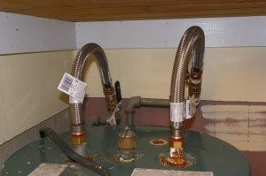 Finished work with new stainless  lines and cut-off valves.