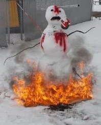 snowman on fire cropped