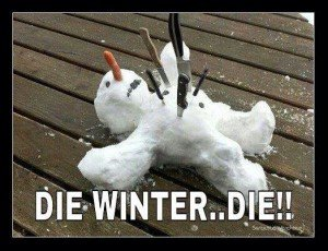 stabbed snowman
