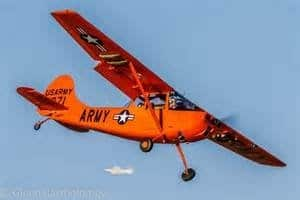 orange airplain