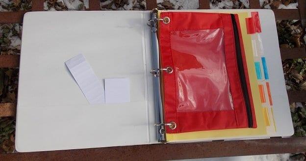 binder inside