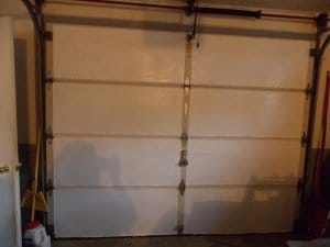 DIY Garage Door Insulation Completed.