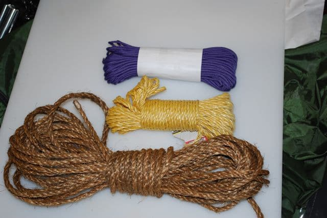 hanks of survival rope and cord