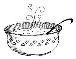 soup line art