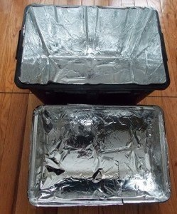 Mylar lined chest.