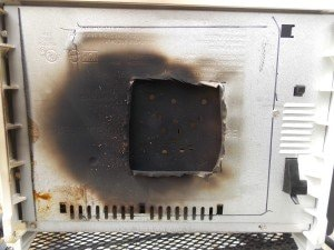 bottom burn on stove