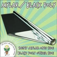 mylar black poly