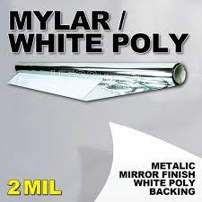 mylar white poly