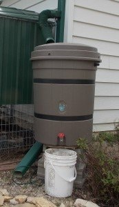 5 gallon bucket with rain barrel