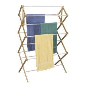laundry rack inside
