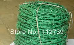 barbed wire green