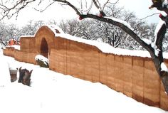 Rammed Earth Fence