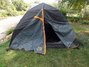 tent with rainfly on
