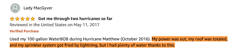 Used the WaterBob During Hurricanes Matthew and Irma