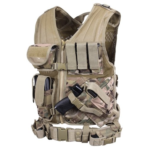 Rothco Multicam Crossdraw Pilot Survival Vest
