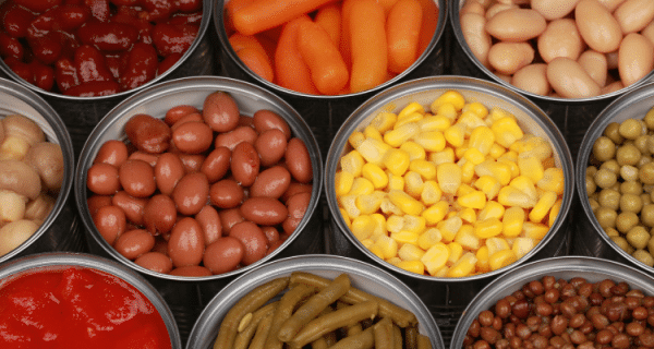 Survival Food List - Canned Vegetables